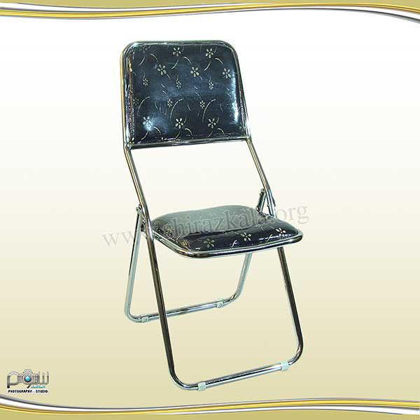 تصویر صندلی تاشو سرمه ای