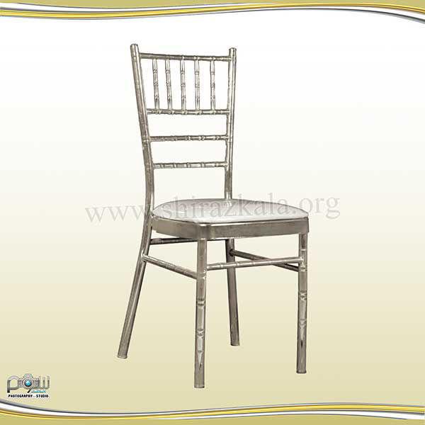 تصویر صندلی شیواری نقره ای آبکاری