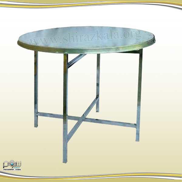 میز گرد تاشو، میز گرد بدون کاور، میز گرد فلزی، میز گرد هشت نفره