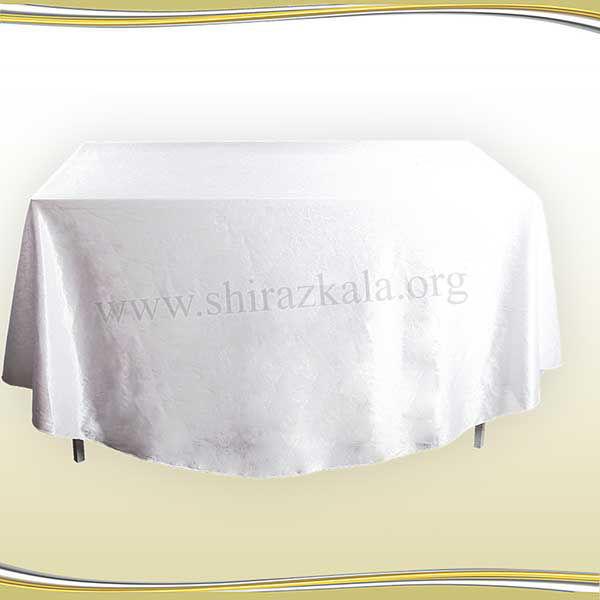 تصویر میز مستطیل با کاور طرحدار