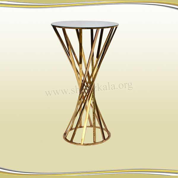 تصویر میز سوارز هندسی طلایی 100