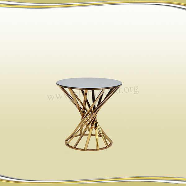 تصویر میز سوارز هندسی طلایی 60