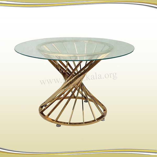 تصویر میز پذیرایی هندسی طلایی