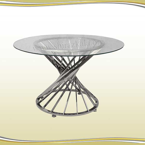 تصویر میز پذیرایی هندسی نقره ای