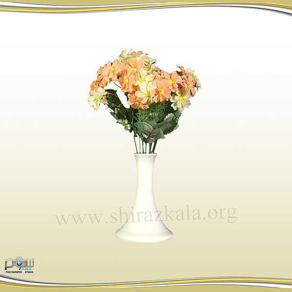تصویر گلدان چینی با گل مینا