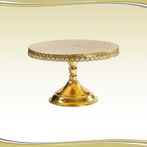 تصویر پایه کیک طلایی