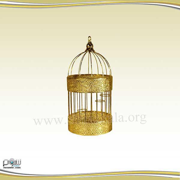 تصویر قفس طلایی ساده کوچک