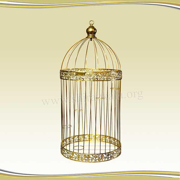 تصویر قفس طلایی ایستاده متوسط