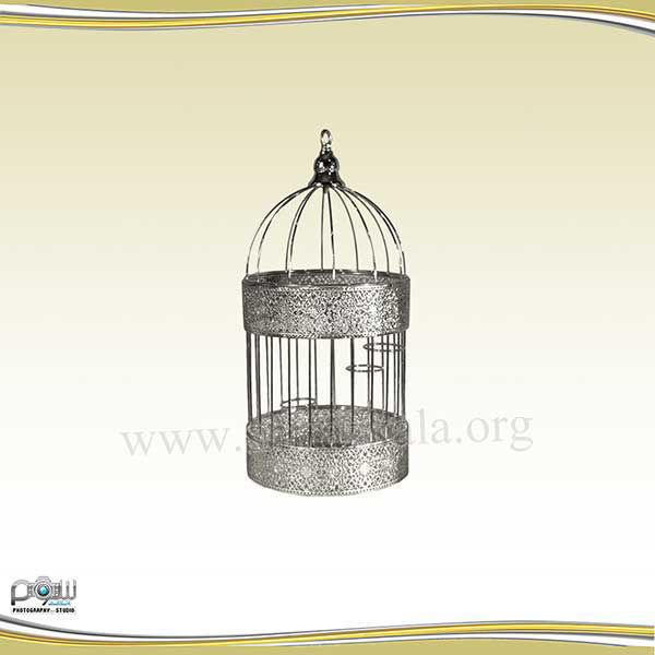 تصویر قفس نقره ای ساده کوچک