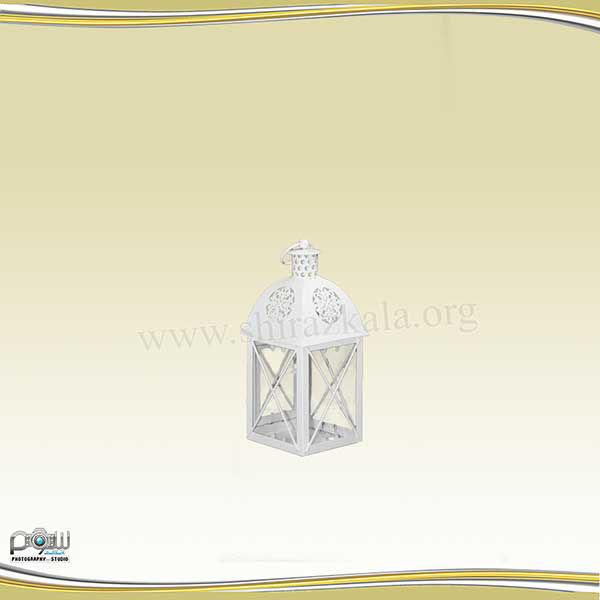 تصویر فانوس سفید چهارضلعی کوچک