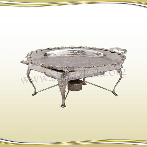 تصویر سینی سیلور گرد کلاسیک